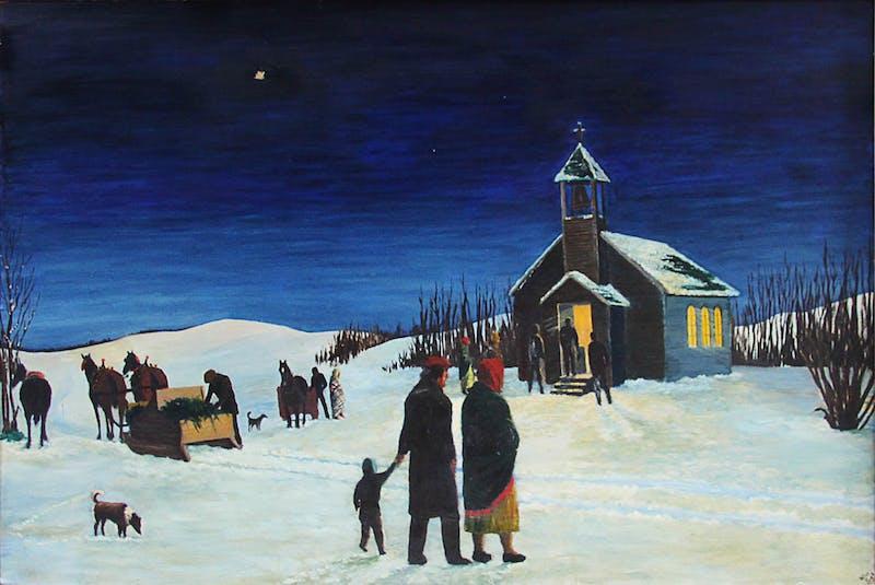 Prairie Winter Night Image 1