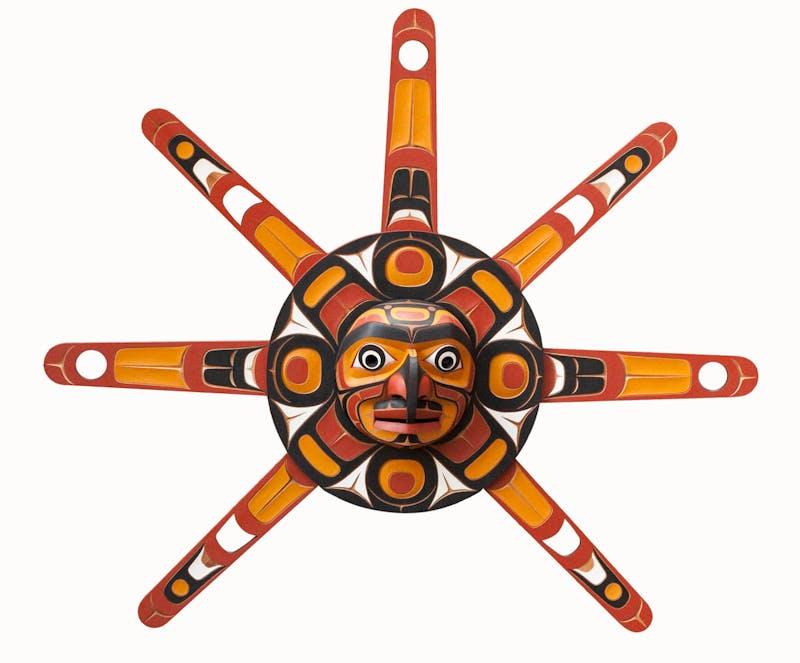 Sun Mask with Hawk Man Image 1