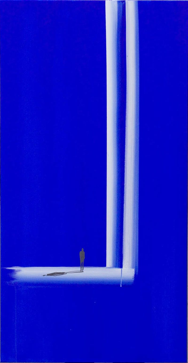 Untitled (Figure in Brilliant Blue)