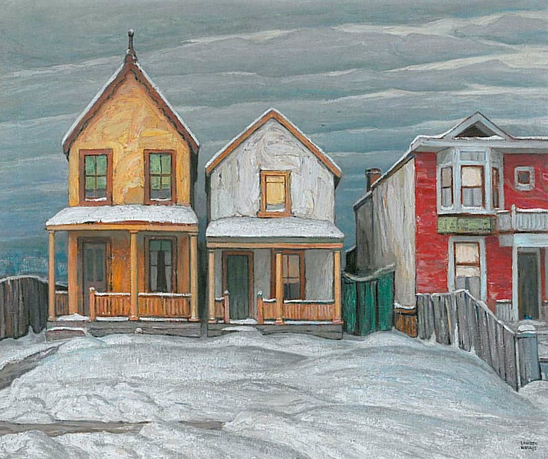 Houses, Winter, City Painting V