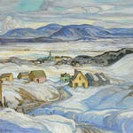 Near Baie St. Paul, Winter by Henrietta Mabel May, 1927 oil on canvas - (30.25x36.25 in)