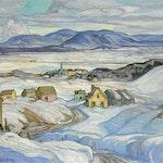 Near Baie St. Paul, Winter by Henrietta Mabel May, 1927 oil on canvas - (30.25x36.25 in)