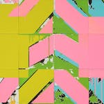 Pichoune by Jacques Hurtubise, 1973 Acrylic - (36x72.25 in)