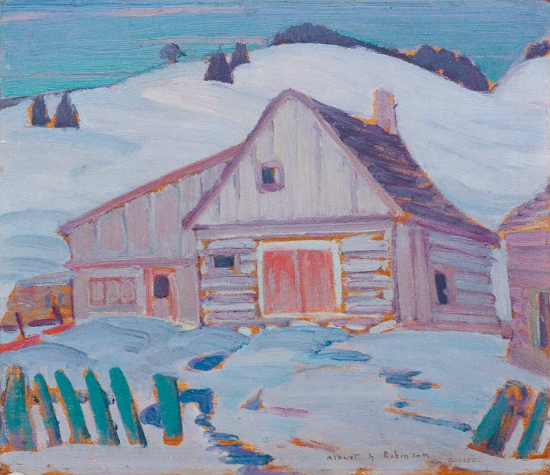 Farmstead in Winter, Quebec Image 1