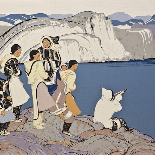 On the Lookout by Thomas Harold Beament, circa 1948 Sampson-Matthews Silkscreen - (28x38 in)