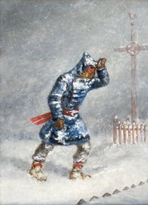 Man in a Blizzard