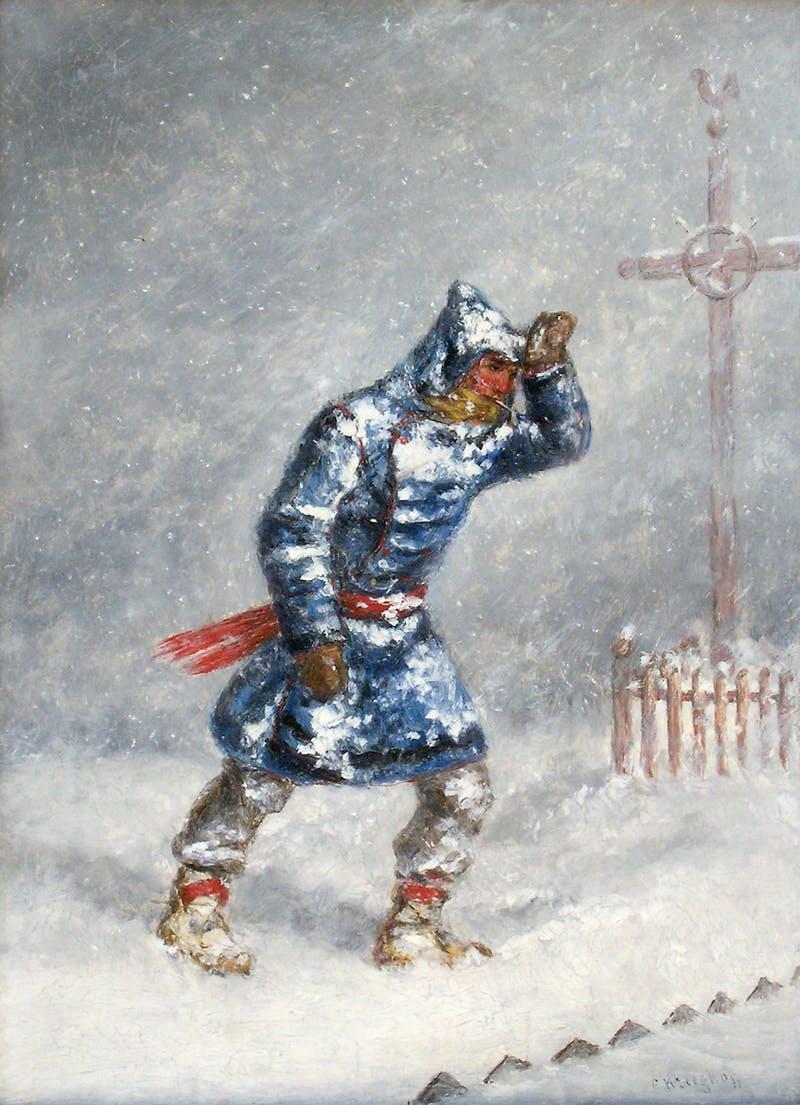 Man in a Blizzard Image 1