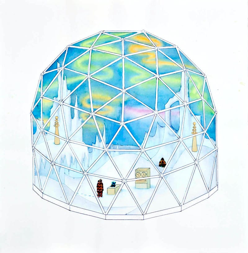 Aurora Borealis Simulation Dome no1