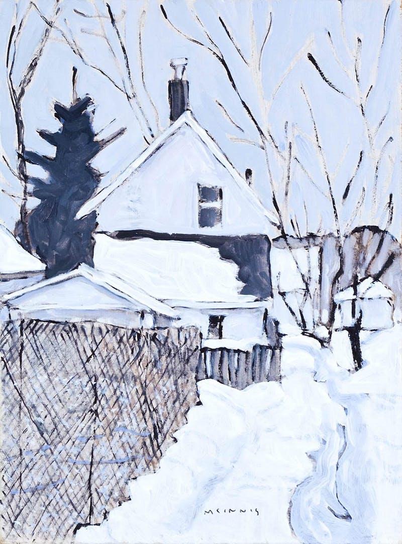 House and Sidewalk Fence Image 1