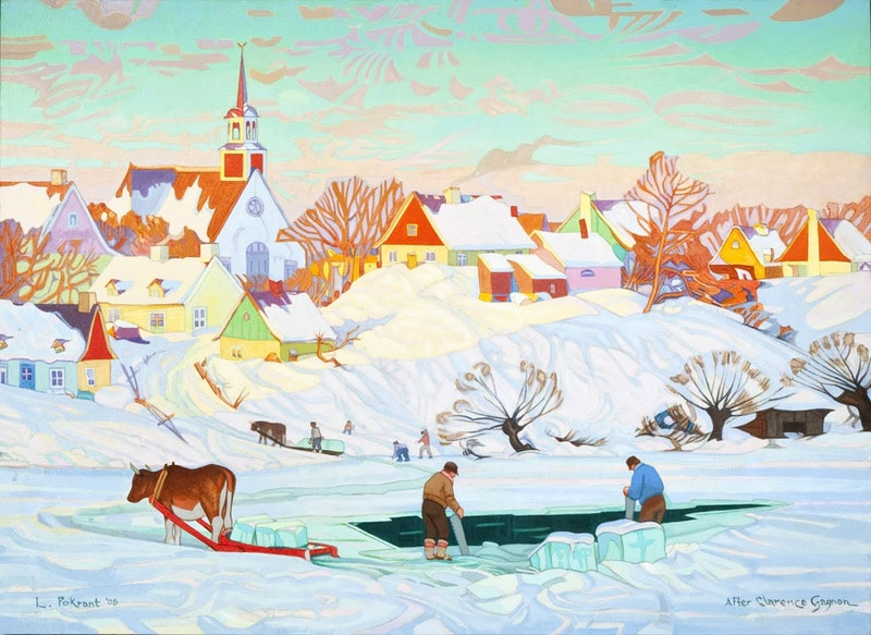 Ice Harvest - After Clarence Gagnon Image 1
