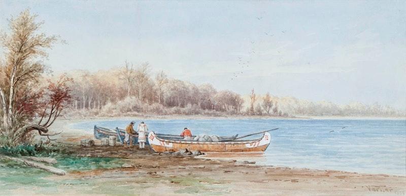 Freighter Birch Bark canoes