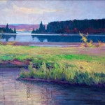 Canoe Lake, Algonquin Park by John William Beatty, circa 1917 Oil on Canvas - (30.25x36 in)