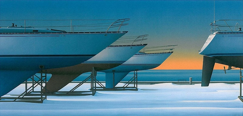 Four White Boats: Canadian Gothic Image 1