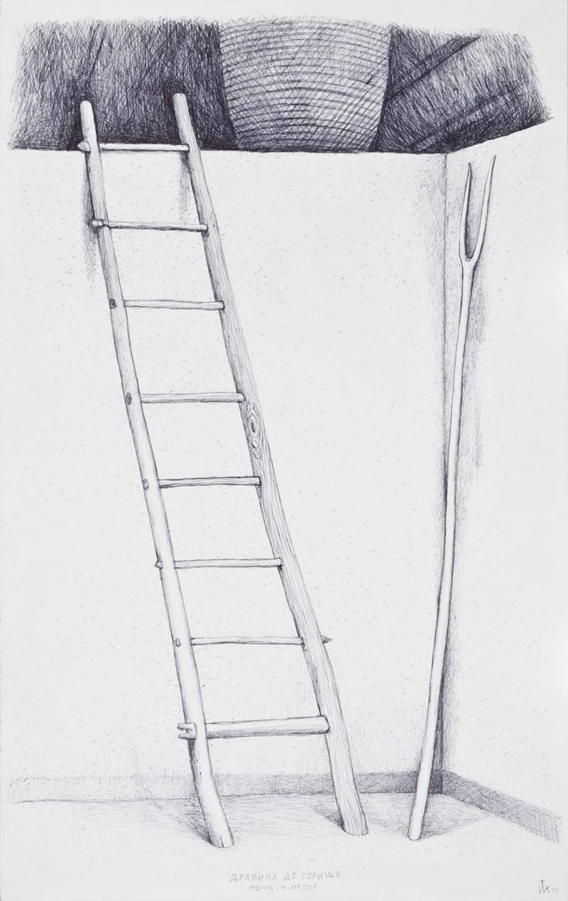 Ladder to the Loft of the House, mid-19th century