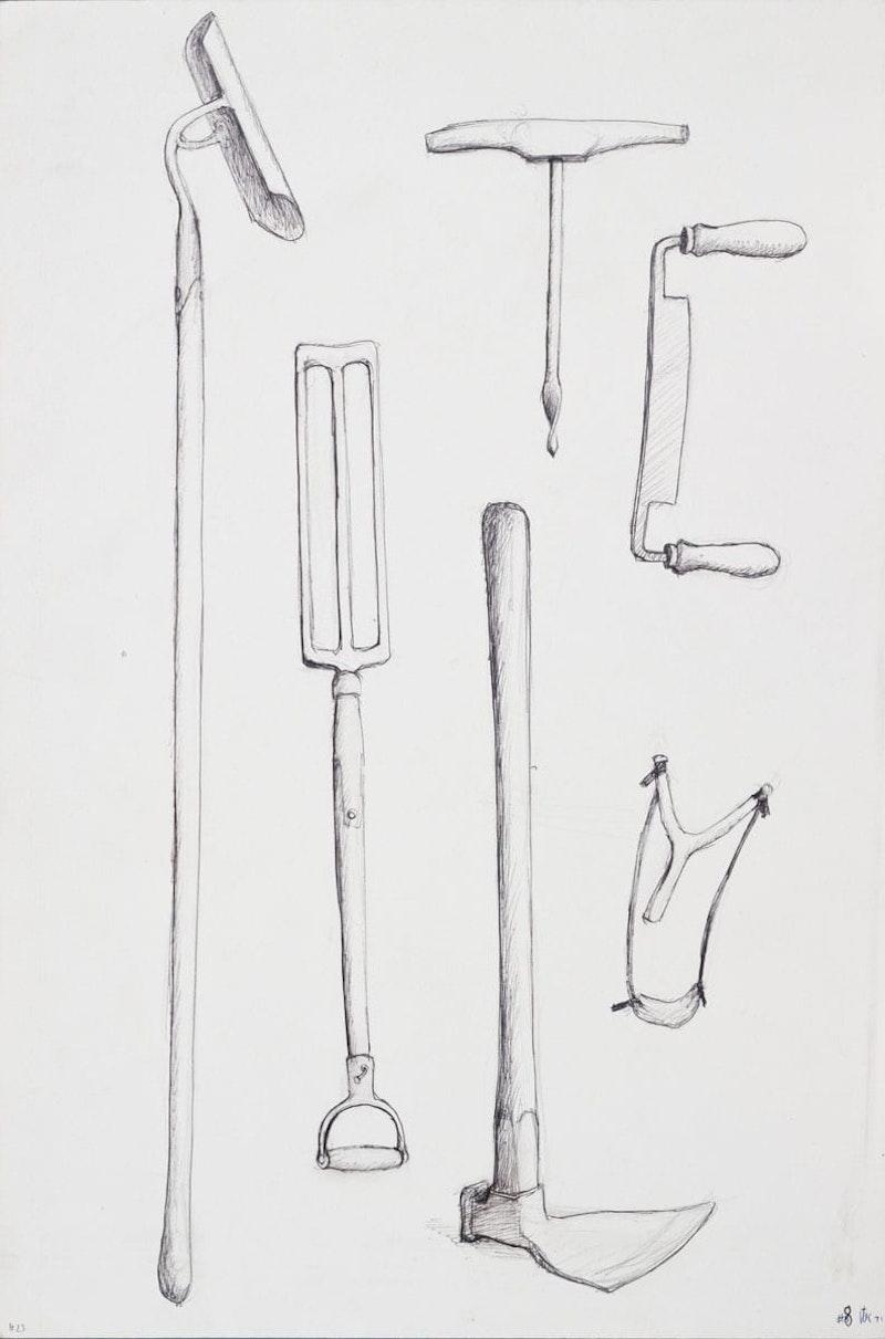 Three Earth Tools, Auger, Shaver, Slingshot