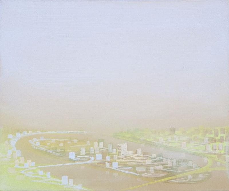 Satellite City-Mauve Sky Image 1
