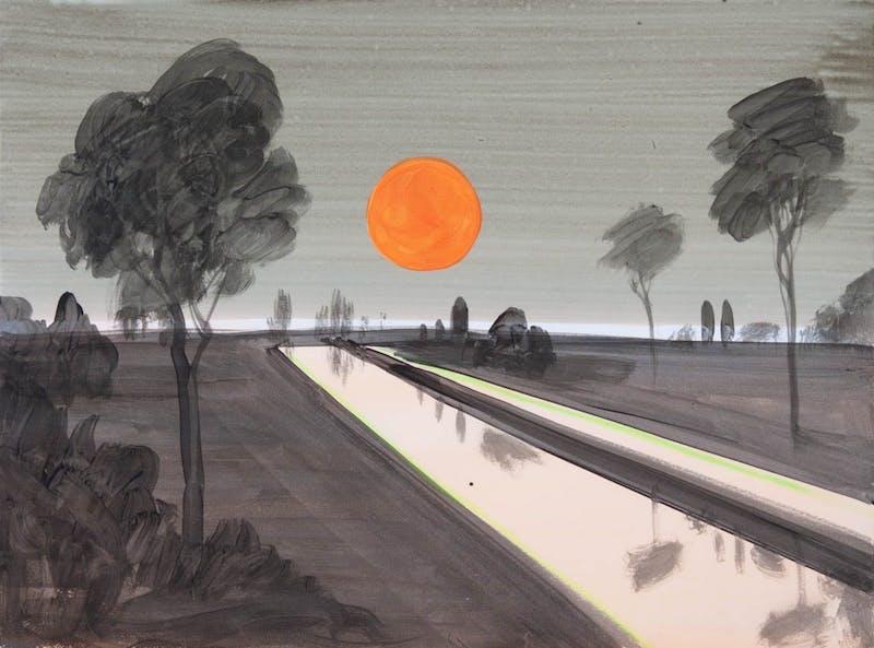 Orange Dot  (Green Room Series) Image 1