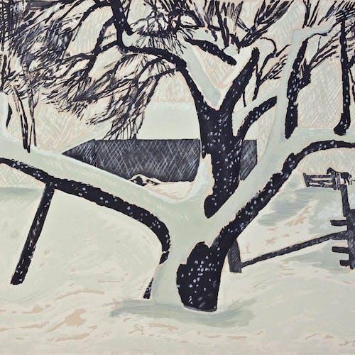 Snow Storm by Thoreau MacDonald, circa 1947 Sampson-Matthews Silkscreen - (20x27 in)
