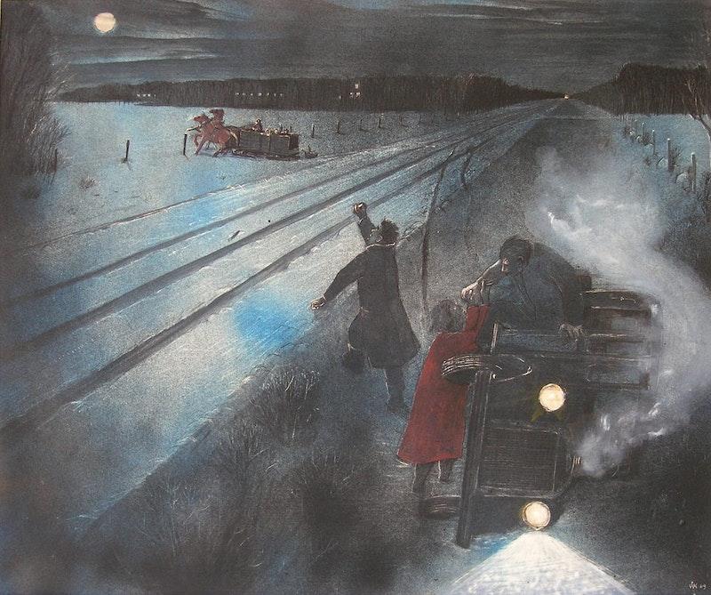 Winter Incident Near Stonewall Manitoba - 1942 Image 1