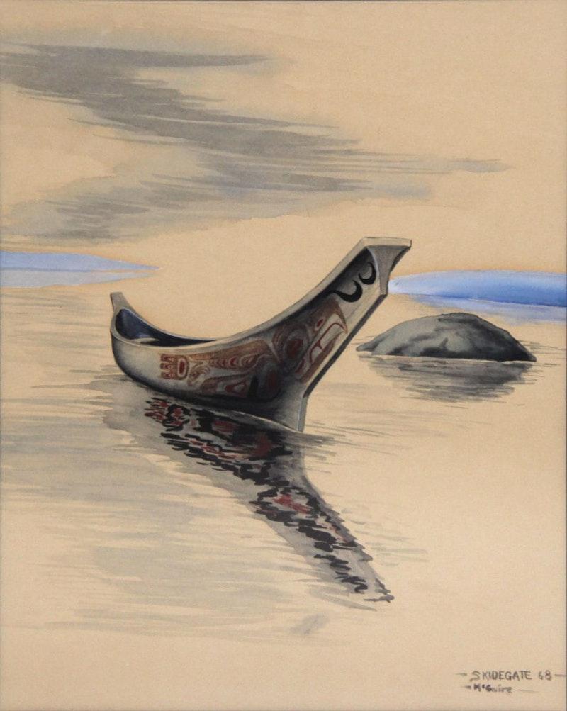 Skidegate War Canoe Image 1