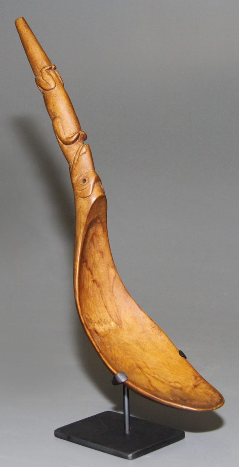 Wooden Spoon with Figure Motif