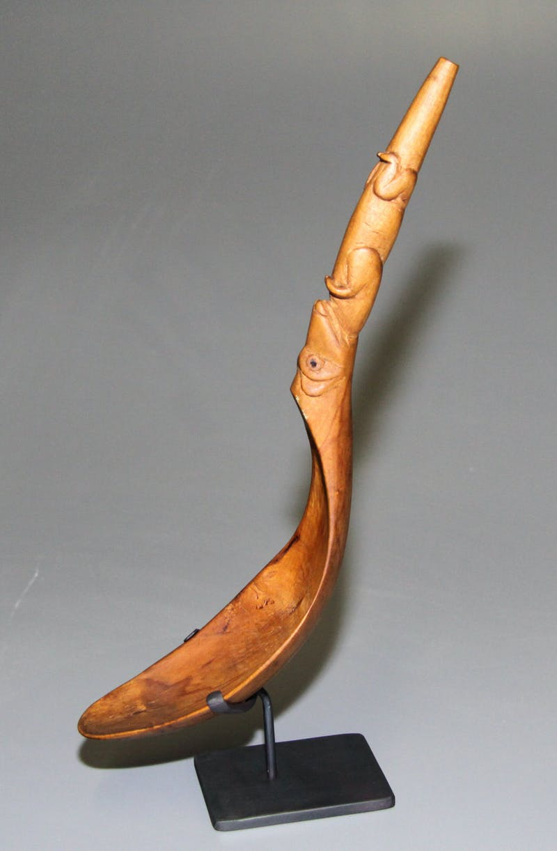 Wooden Spoon with Figure Motif Image 3