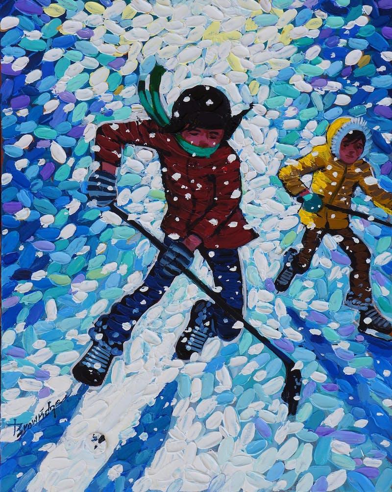 Stick Handling in Snow Image 1