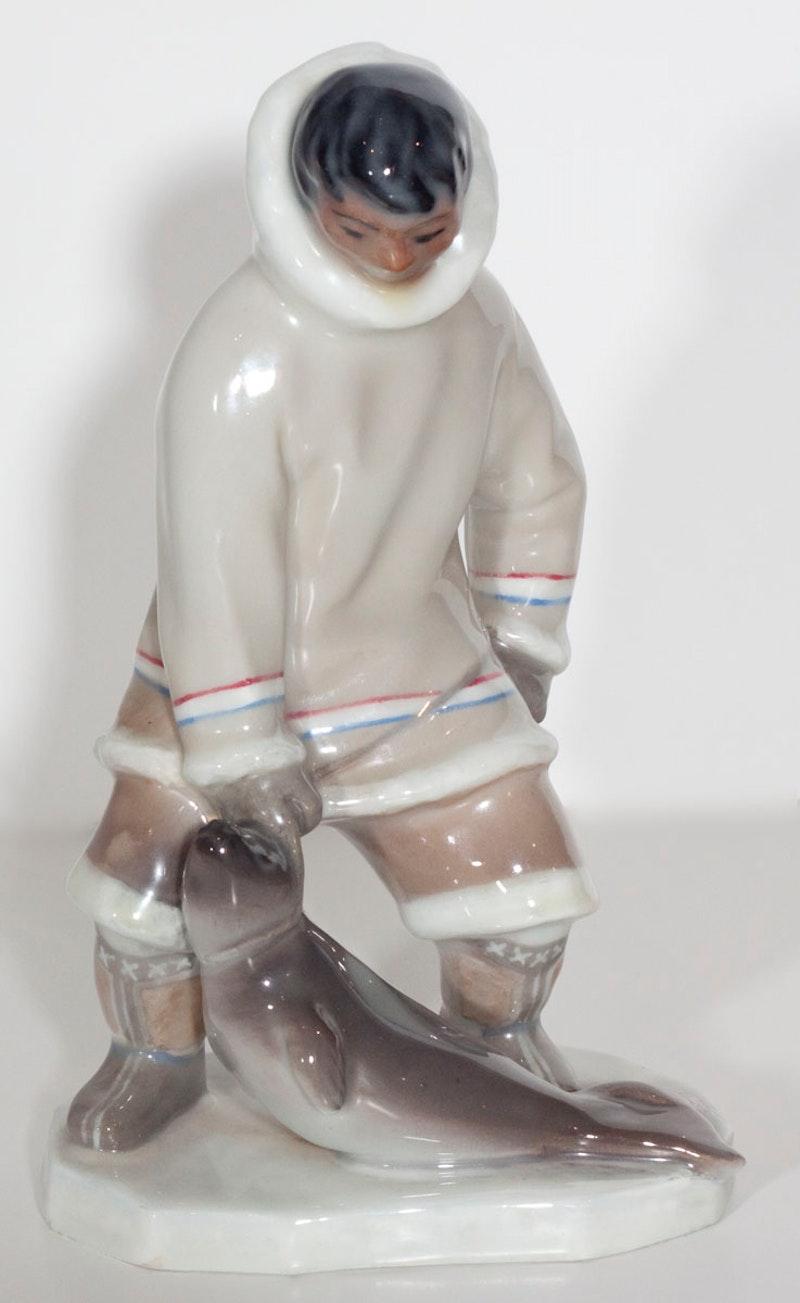Eskimo Hunter and Seal Image 1