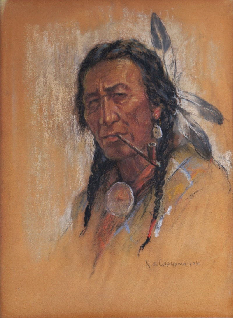 Untitled (Indian with Pipe) Image 1