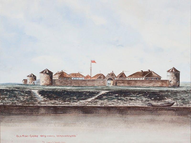 Old Fort Garry, 1869 (Demolished1882) Image 1