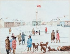 Interior Fort Garry, 1874