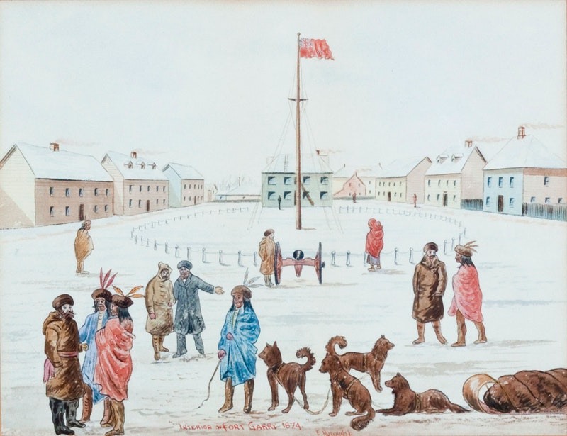Interior Fort Garry, 1874 Image 1