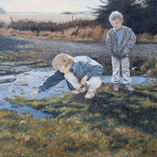 Curiosity by George Jenkins Oil on Panel - (24x36 in)