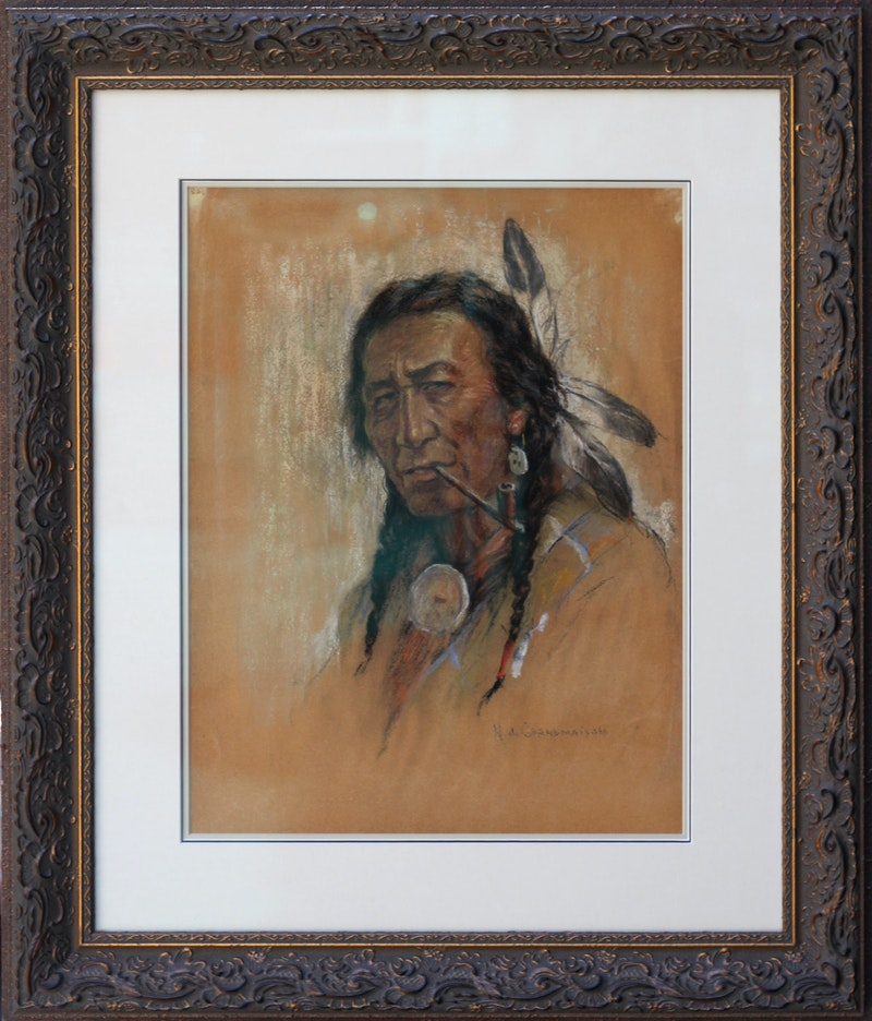 Untitled (Indian with Pipe) Image 2