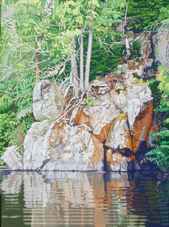 Rocky Shoreline, Lyons Lake Image 1