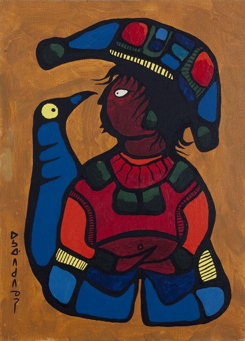 Boy With Bird Spirit Image 1