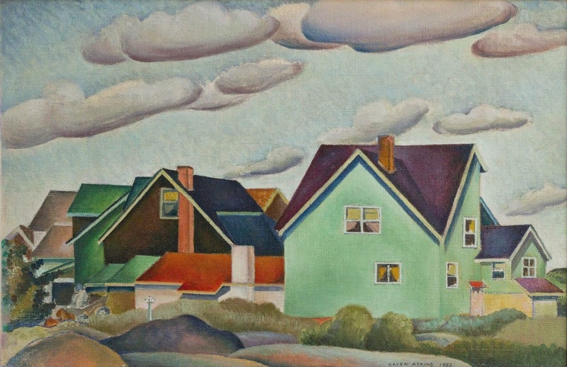 Houses and Clouds Along the Assiniboine