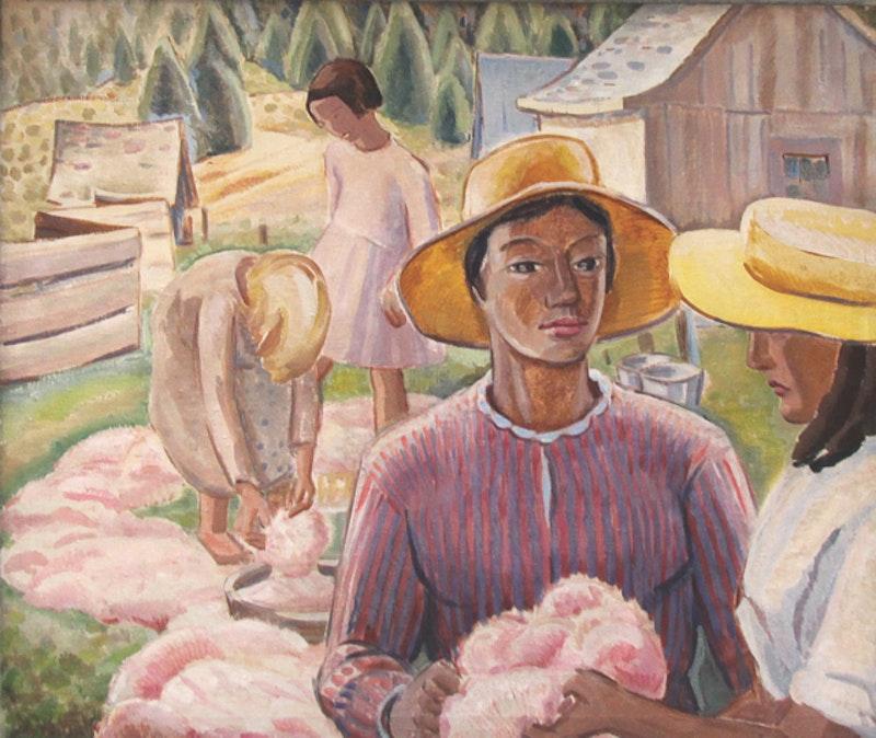 Dyeing Wool, L'Ile d'Orleans, Quebec Image 1