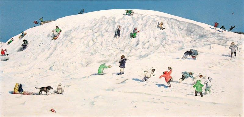 Eskimo Children Playing, Cape Dorset