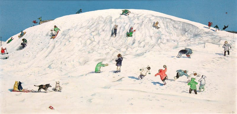 Eskimo Children Playing, Cape Dorset Image 1
