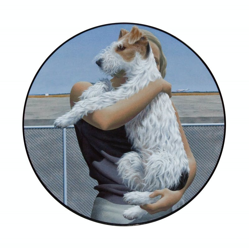 Woman and Terrier Image 1