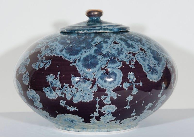 Violet Lidded Vessel Image 1