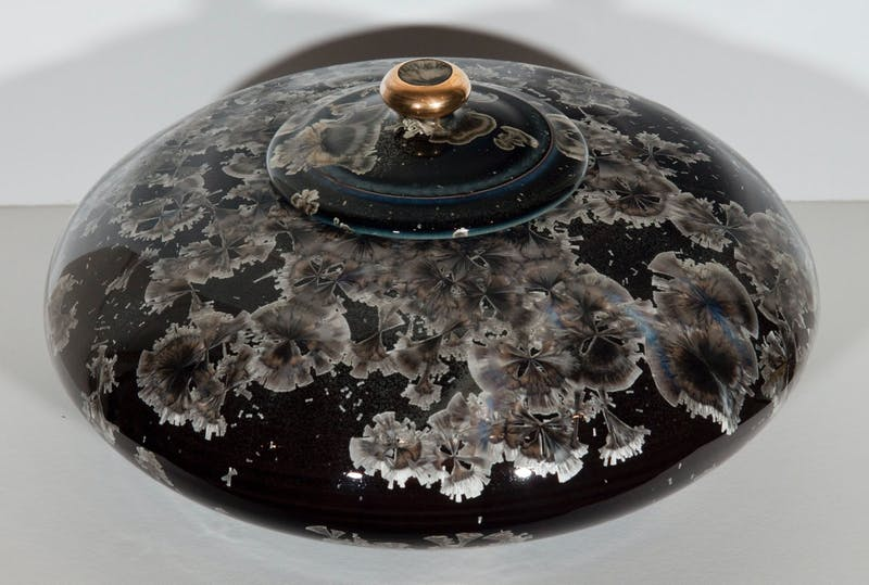Dark Blue Lidded Vessel Image 2
