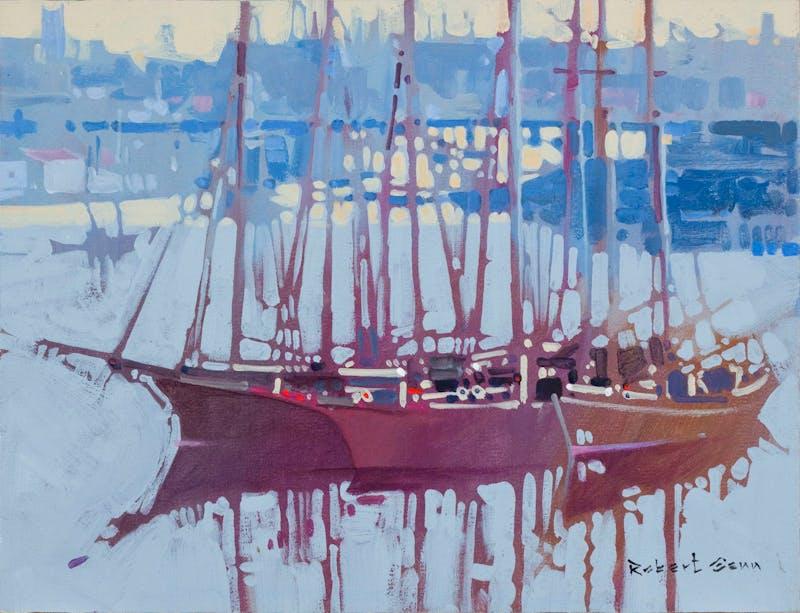 Sealing Fleet, Victoria Harbour, 1890