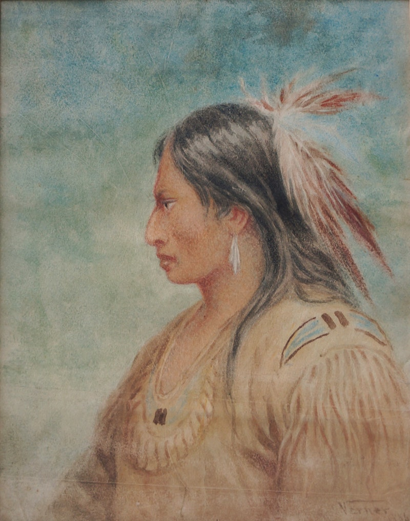 Ojibwe Indian, Rainy RIver Image 1