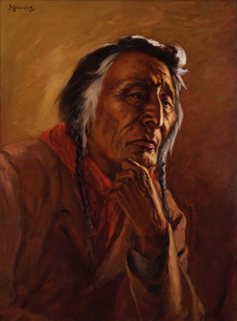 Portrait of Sun Walking, Blackfoot Indian