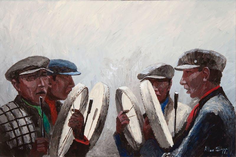 Four Men Singing Image 1