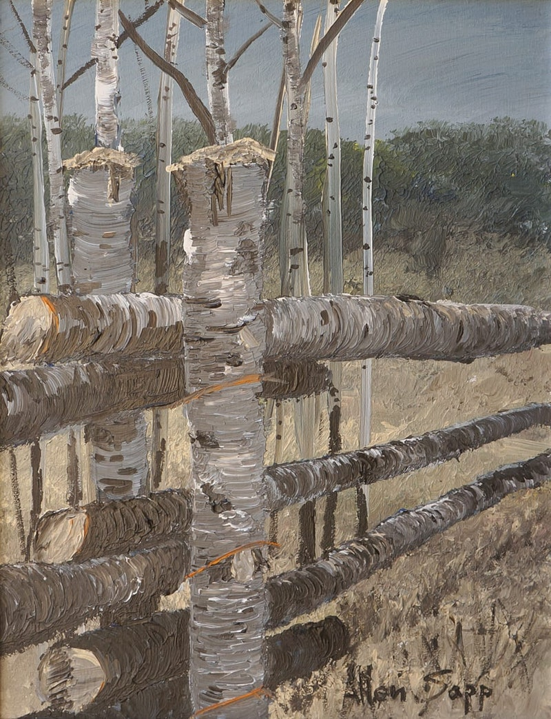 Fence Near a Haystack Image 1