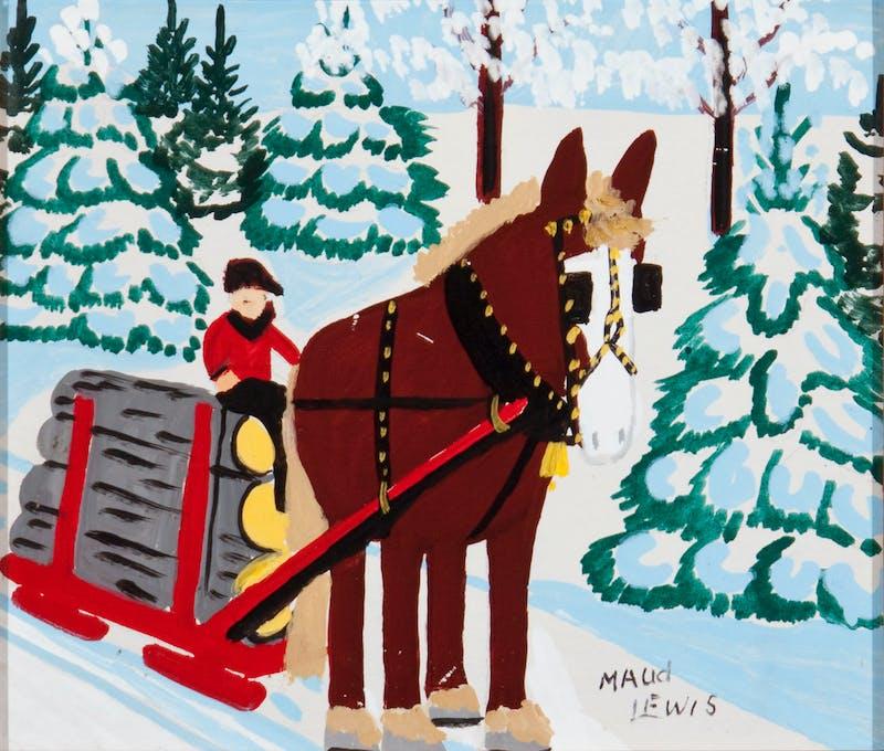 Horse Hauling Logs Image 2