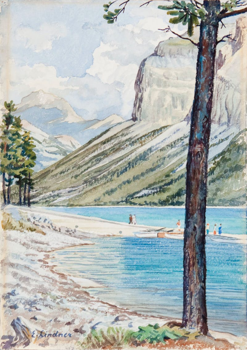 Mountain Valley Scene Image 1